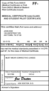 Regulations Medical Certificates Learn To Fly Blog Asa