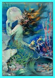 MERMAID FABRIC Vintage Mermaid Poster Quilt Fabric Blocks & Like this item? Adamdwight.com