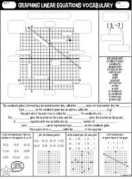 graphing linear equations worksheet voary guided notes math algebra worksheets 1 answers