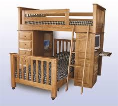 amish kids double loft bed
