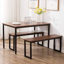 Free Sample Modern Dining Table With Bench Compact Dining Set Use