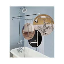 home clawfoot tub wall mount shower enclosure complete set