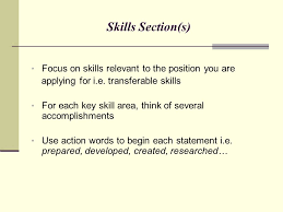 Skills Relevant To The Position S You Are Applying For Writing Winning Resumes Marketing Your Professional Self