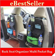 multi pockets car back seat organizer hanging holder storage bag
