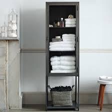 modern bathroom storage cabinets. Tall Industrial Metal Bath Cabinet - Modern Bathroom Storage West Elm Cabinets :