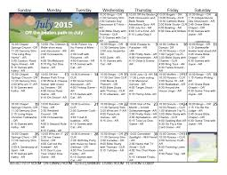 Activity Calendar July 2015 Gainesville Health Rehab Center