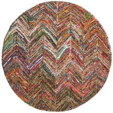 safavieh nantucket red blue multi 6 ft x 6 ft round area rug nan141b 6r the home depot