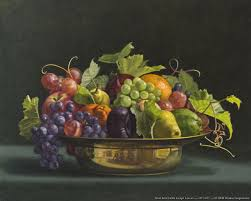 famous bowl of fruit painting. Stencils Fruit Donna Surprenant Bowl With Grape Leaves Painting For Famous Of