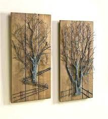 large wood and metal wall art