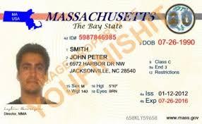 Id Massachusetts Card Massachusetts Od Id