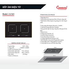 Bếp âm - bếp điện từ đôi Canaval CA-969 công nghệ Inverter tiết kiệm điện -  Gia Dụng Raiden