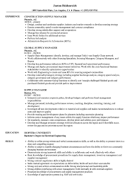 contract compliance resume supply manager resume samples velvet jobs