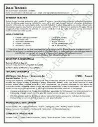 Spanish Teacher Resume Sample | Teacher and Principal Resume .