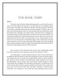 a review reflection on the book thief 2 library