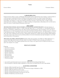 Sample Resume Of A Financial Analyst 24 Financial Analyst Resume Example Financial Statement Form 16