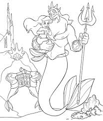 Small Picture Little mermaid coloring pages ariel king triton ColoringStar