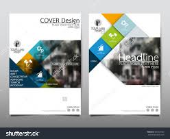 Annual Report Cover Template Blue Square Annual Report Brochure Flyer Design Template Vector 13