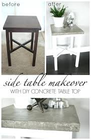 diy concrete tables side table makeover using chalky paint and concrete table top get all the diy concrete tables