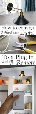 how to convert multiple hard wired light fixtures into a plug in with one switch
