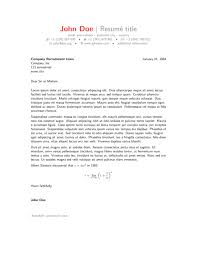 Best Picture Latex Example Cover Letter For Resume Best