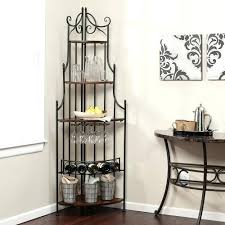 Corner Bakers Rack With Storage