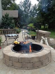 patio with fire pit and grill. Plain Fire Rockwood Fire Pit Invites You To A Relaxing Area Of Your Back Yard  Constructed By On Patio With Fire Pit And Grill