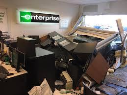 Car Crashes Into Enterprise Rental Office Local News 13 Wthr