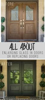 install and enlarge glass in exterior doors or replace exterior doors our dilemma