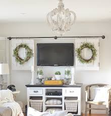 amazing farmhouse style living room decor and wood chandeliers