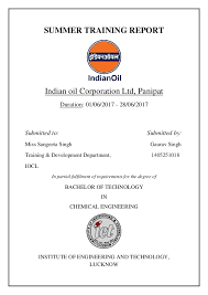 Indian Oil Share Price Chart Summer Training Report At Iocl Chemical Engineering
