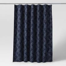 solid navy blue shower curtain. leaf woven shower curtain navy - project 62™ solid blue n