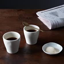 simple espresso cups (set of ) on food