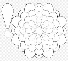 Flowers Templates Flowers Color Clipart Flower Petal Paper Dahlias Flower