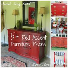 5+ DIY Red Accent Furniture Pieces