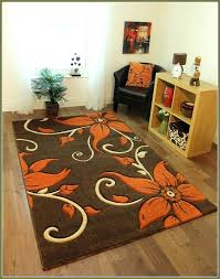 gray and orange area rug very nice fl brown area rug with orange flowers inside burnt