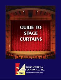 Syracuse Scenery And Stage Lighting Co Guide To Stage Curtains