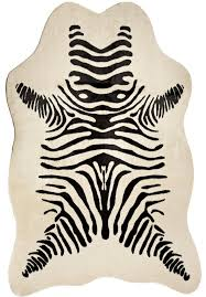 zebra hide rug for