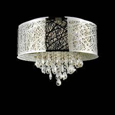 kitchen elegant modern chandeliers 5 0000858 22 web laser cut drum shade crystal round flush