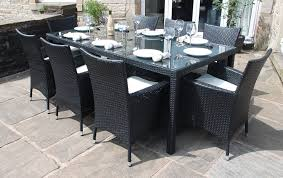 garden dining furniture rattan. rattan outdoor 8 seater garden furniture dining set in black: amazon.co.uk: \u0026 outdoors d
