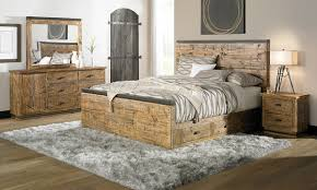 Vail Solid Pine and Iron King Storage Bedroom Set The Dump Luxe ...