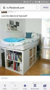 Storage Bed Placard Ikea, Ikea Bed Hack, Ikea Kallax Hack, Ikea Platform Bed