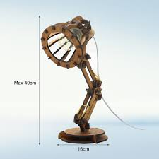 Original Design Wooden Diy Table Lamp Desk Light Assemble Pixar