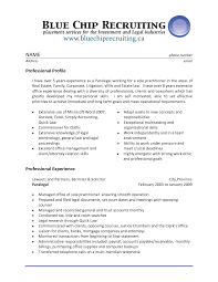 Useful Resume Objective Examples For Legal Assistant Also Police