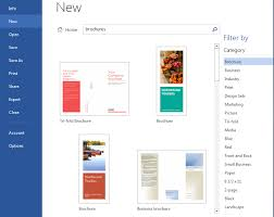 How Find Brochure Templates In Microsoft Word 2016 For Mac