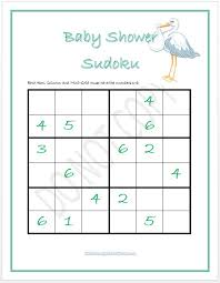 Baby Shower Sudoku - Boy And Girl Versions | Baby Shower