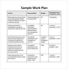 work plan examples work plan template work plan 40 great templates samples