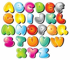 colored bubble letters graffiti bubble letters az colorful vector graphics graffiti clip