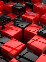 Black Glass Squares 3D Desktop HD Wallpaper