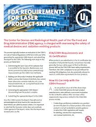 Fda Requirements For Laser Product Safety Ul