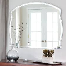 Frameless Bathroom Mirror Accessories Lovable Rectangular Frameless Mirror Design For